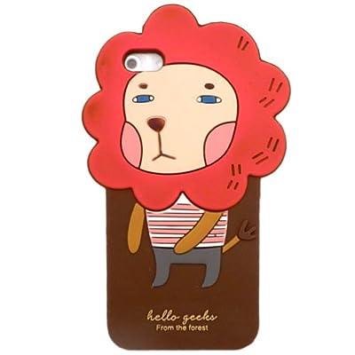 iPhone5用 森の仲間達シリーズ ロンリー・ライオン