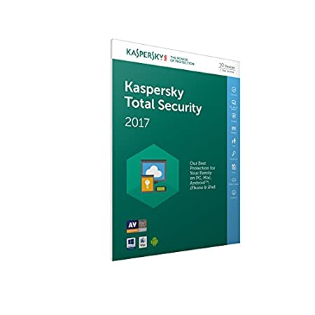 Kaspersky Total Security 2017 (10 Devices, 1 Year) FFP (PC/Mac/Android)