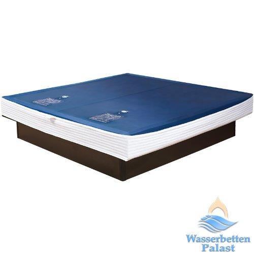 Premium Comfort Wasserkern Wasserbettmatratze für RWM AQUA CLASSIC – eine Seite für Bettgröße 200×220 cm – Bettaufbau: Dual – schräger Softrahmen: innen keilförmig – Höhe innen: 20-23 cm – Beruhigungsstufe 90% / F6