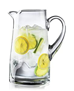 Libbey / Crisa Impressions 90 Ounce Capacity Clear Glass Pitcher