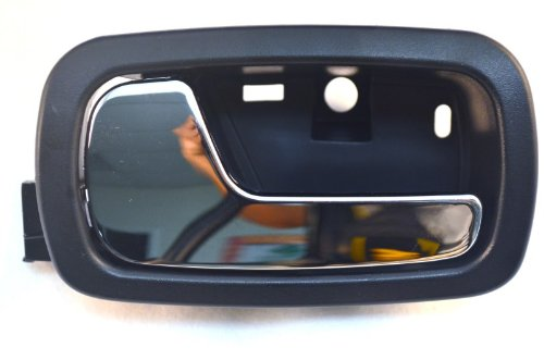 PT Auto Warehouse GM-2007MA-FL - Inside Interior Inner Door Handle, Black Housing with Chrome Lever - Driver Side Front (Door Handle For 2006 Chevy Cobalt compare prices)