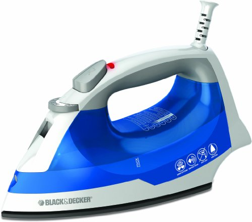 Black & Decker IR03V Easy Steam Iron, White/Blue