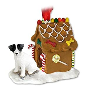 Jack Russell Terrier Gingerbread House Christmas Ornament New Gift