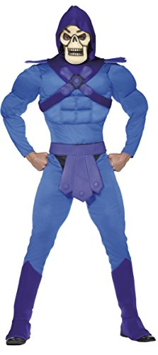 Skeletor Adult Costume in Two Sizes.