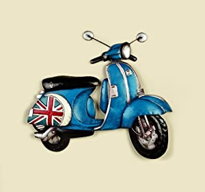 Traditional Scooter Garden & Home Wall Art (58cm x 50cm) from Direct Global Trading