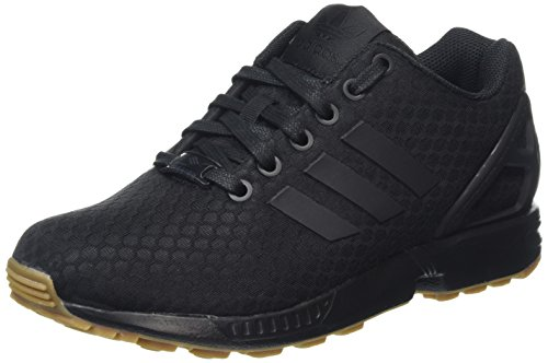 adidas ZX Flux, Scarpe da Ginnastica Basse Unisex - Adulto, Nero (Core Black/Core Black/Gum), 42 EU