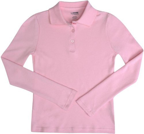 French Toast - Big Girls' Long Sleeve Interlock Polo платье french connection french connection fr003ewhuq37