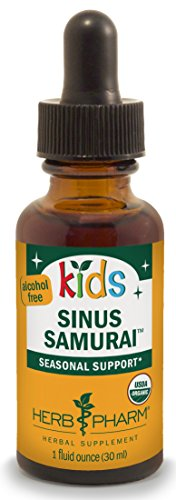 Sinus Seasonal 60 Vegetarian Capsules By Les Labs: Herb Pharm Kids Certified-Organic Alcohol-Free Sinus