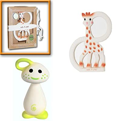 Sophie The Giraffe Vanilla Teething Ring with Gnon Soft Toy