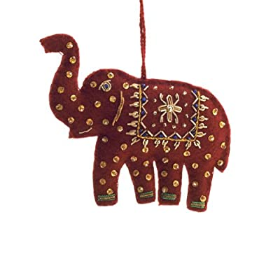 Embroidered Elephant Decoration