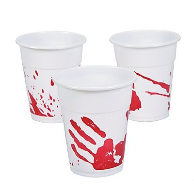 Bloody Handprint Disposable Cups 2 units