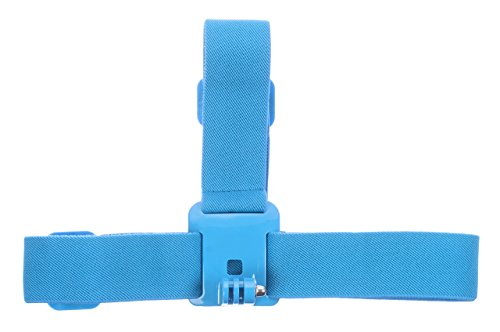 KitVision Coloured Adjustable Head Strap Mount For Gopro Hero Range And Edge Hd10/Splash/Escape 5/Escape 5W - Blue