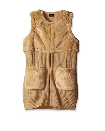 Fate Women's Faux Fur Sweater Vest