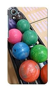 CimaCase Bowling Balls Designer 3D Printed Case Cover For HTC Desire 826