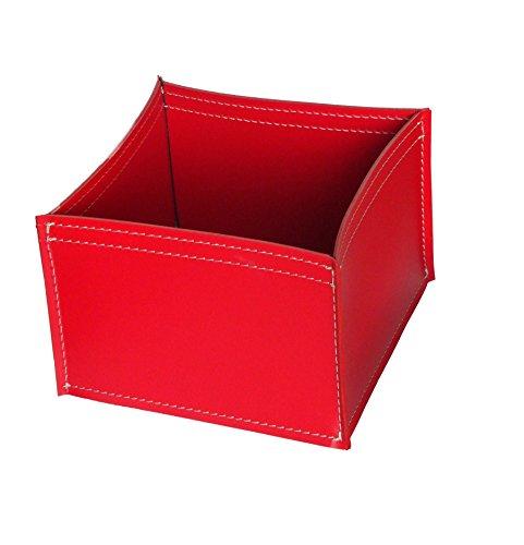 KOME 531: Set svuota tasche in cuoio rigenerato composto da 3 pezzi, colore Rosso.