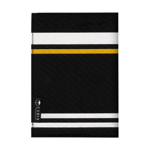 キュービックス ブックカバーストライプ 文庫サイズ ブラック 114022-15