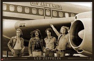 "Led Zeppelin - Classic Rock - New Poster - Plane (Size 24""X36"")"