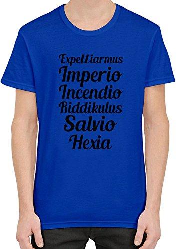 Expelliarmus Imperio Incendio Riddikulus Salvio Hexia T-Shirt per Uomini XX-Large