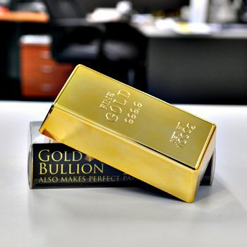 1kg 35oz Fake Gold Bar Bullion Door Stop/Paperweight