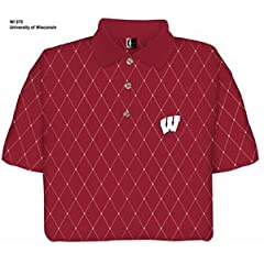 Wisconsin Printed Pique Polo Shirt by Chiliwear LLC