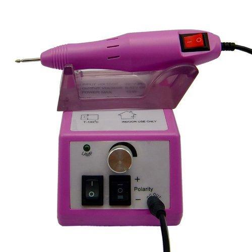 Belle 20,000 RPM Electric Nail Drill Kit électrique Lime Ongles Manucure avec Embouts ponçage pour Acrylics Gel Polish Pink - meilleure idée de cadeau