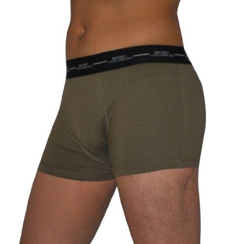 Mens Basic Comfortable & Soft Stretch Knit Boxer Shorts / Underwear Briefs