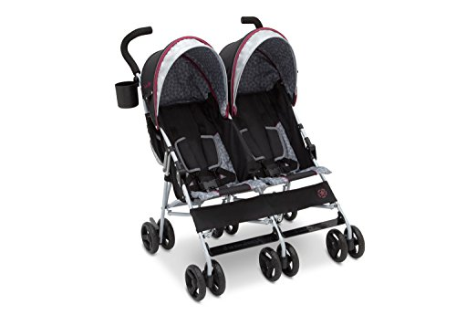 J is for Jeep Brand Scout Double Stroller, Lunar Burgundy (Side By Stroller compare prices)