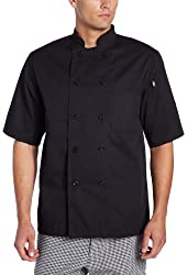 Dickies Men's Donatello Short Sleeve Classic Chef Coat