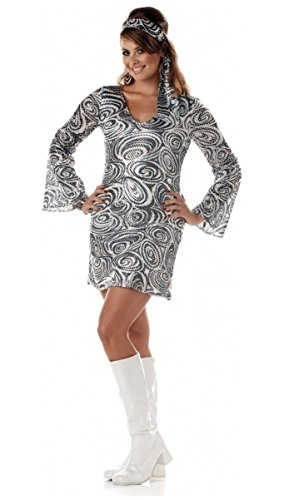 Disco Diva Costume - Adult Plus size Costume