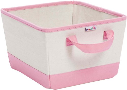 Learn More About Munchkin Canvas Nursery Bin, Pink