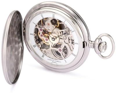 Charles-Hubert Pocket Watch 3906-W Stainless Steel Full Hunter