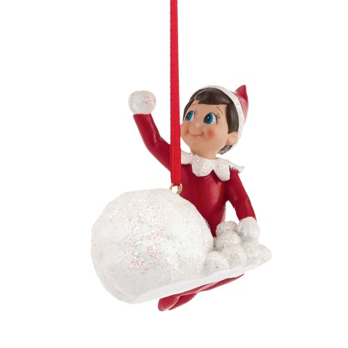Department 56 Elf on The Shelf Elf Throwing Snowballs Ornament, 2.75-Inch