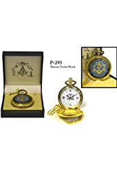 Sigma Impex P-295 Blue Masonic Pocket Watch