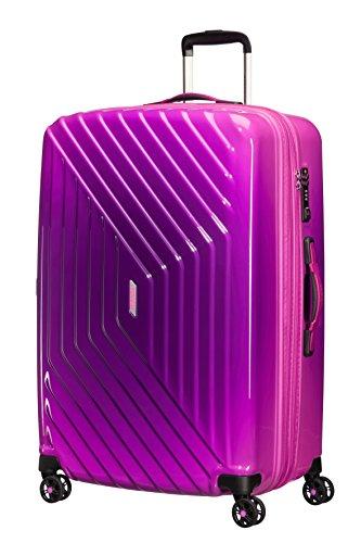 American Tourister Air Force 1 Spinner 76/28 TSA Espandibile Grad Valigia, Policarbonato, Gradient Pink, 111 litri, 76 cm