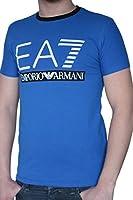 T-shirt EA7 EMPORIO ARMANI homme manches courtes bleu