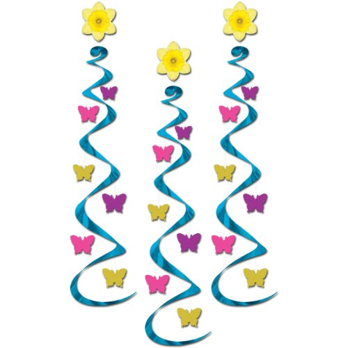 Butterfly Whirls Party Accessory (1 count) (3/Pkg)