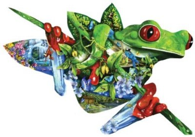 Picture of SunsOut A Nest of Frogs - 1000pc Shaped Jigsaw Puzzle By Sunsout (B003QZJP0W) (Jigsaw Puzzles)