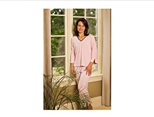 Goodnighties Ionized Sleepwear - Crop Pant (Pink, Large)