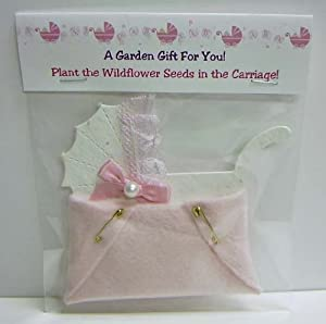 plantable baby shower carriage favor with diaper home