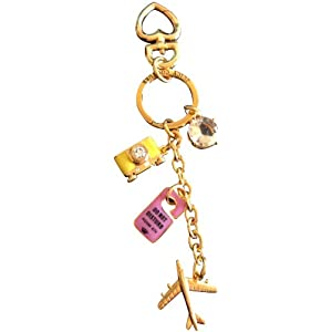 Juicy Couture Travel Charms Key Chain Ring FOB