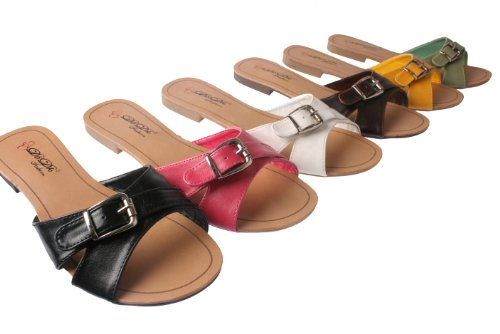 Cheap Elegant by Beston Women's SANDRI-6 Flat Bottom Slippers (B007MLEHKE)