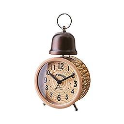 Inter-form table clock Oruvieto Orvieto log-tone alarm Brown CL-1278BN