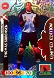 Euro 2012 Adrenalyn XL Limited Edition card Thomas Sorensen [Toy]