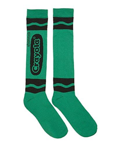 [Spirit Halloween Crayon Knee-High Socks - Crayola, Shamrock Green] (Adult Green Crayon Costumes)