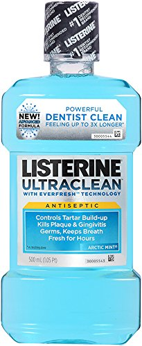 Listerine Ultraclean Mouth Wash, Artic Mint, 16.9 Ounce (312547422611)