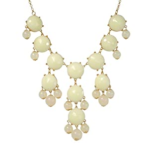 Bubble Necklace,Statement Necklace, Bubble Jewelry(Fn0508-White)