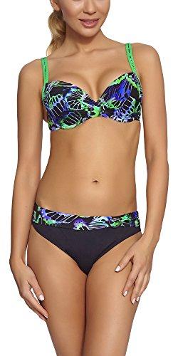 Feba Push Up Bikini per Donna Daniela (Modello-09DK, EU Cup 85C/Bottom 42 (IT 4C/48))