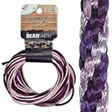 2mm Satin Rattail Braiding Cord Lilac 12 Yards For Kumihimo and Craft 420178
