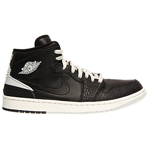 Nike Mens Air Jordan 1 Retro 86 Basketball Shoes Black/Pure Platinum/White 644490-010 Size 12