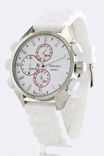 Karmas Canvas Silicone Sports Watch (White)